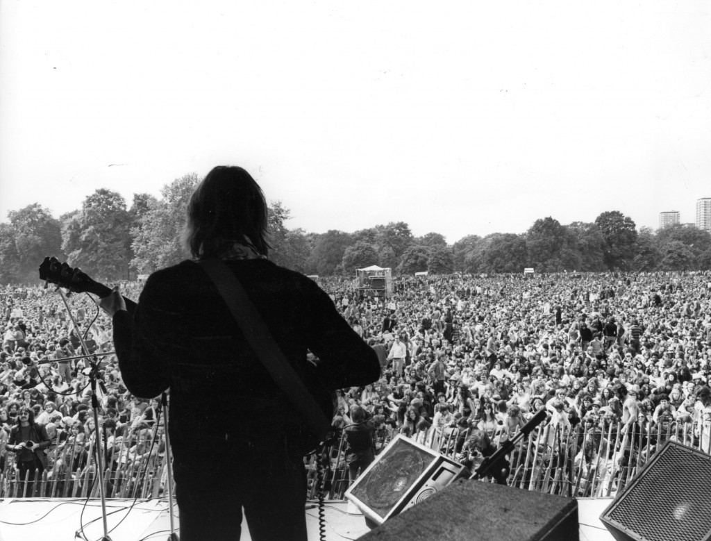 Hyde Park concert, London, 1975